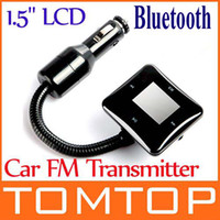 Wholesale 1 quot LCD Car Bluetooth FM Modulator Transmitter USB SD MP3 Kits K700