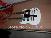 6 Strings Basswood Right - Handed Wholesale New Double neck SG 1275 white electric guitar gold hardware Not including case