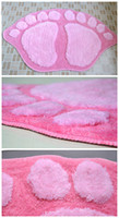 Wholesale High Quanlity Foot Rugs Absorbs Water Floor Bath Bedroom Mat Colors