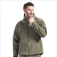 Wholesale Military Tactical HOT Men Outdoor Hunting Camping Waterproof Coats Jacket Hoodie Army Green