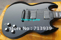 Solid Body 6 Strings Basswood Free shipping SG black 2 pickups Electric Guitar in stock
