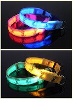Wholesale LED Glow Dog Collors Cat Supplies Puppy Collars Cartoon Cute hot sale LED Pet Collars Pet Supplies