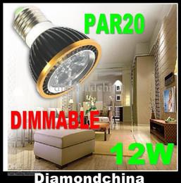 Retail High power Dimmable LED Light PAR20 12W Spotlight E27 GU10 E14 B22 110V 220V White Warm White bulb