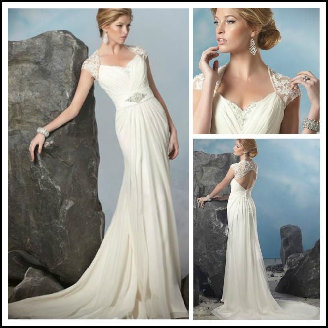 Discount unique design sweetheart cap sleeve butterfly for Butterfly back wedding dress