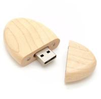 key shape usb flash drive - Oval Shaped Wood USB Flash Drive real GB GB GB GB GB usb memory pen drive thumb drive usb stick pen key