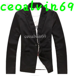 Wholesale 2012 high quality Mens casual Stunning slim fit Jacket Blazer Short Coat one Button suit colors