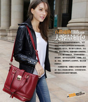 Wholesale New Vintage Leather Women s Handbag Buckle Belt Hand Shoulder Bag Crocodile Messenger Bag YJ