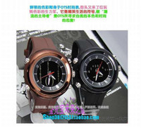 Analog-Digital Rubber  Original AUDI o.t.s fashion personality watch male watch luminous brown 6751