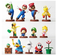 Wholesale PVC set box color blue yellow red orange th Super Mario Bros Action Figures f Xmas Re