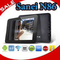 Wholesale 8 quot IPS SANEI N86 Dual Core Android Tablet PC RK3066 GHz G WiFi HDMI camera D UMPC N79 N78