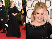 Wholesale 2013 th Golden Carp Globes Awards Adele Red Carpet Dresses Plus Size Long Sleeves Pageant Gowns