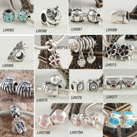 Wholesale Sterling Silver High Quality Loose Charms Beads Bracelets European Jewelry Mixed