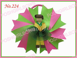 free shipping 145 pcs 4.5'' Novel Swallowtail character hair bows boutique hair Clip girl hair bow