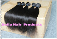Wholesale Mix length quot quot Peruvian Virgin Remy Hair Weft Natural Color Weave Straight g A