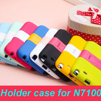 For Samsung Plastic  Multicolor plastic Hard case Back cover holder stander support for for galaxy note 2 II N7100 efit