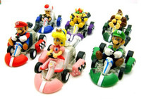 Wholesale Super Mario inch cm back car portfolio pvc toy plastic doll Kart