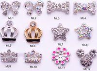 Nail Art 3D Decoration nail jewelry - 400 designs Inlaid Alloy Jewelry DIY Rhinestone Glitters Slices D nail art manicure Dangle jewelry