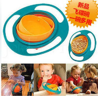 Wholesale Baby Bowl Rotating Flying Saucer Bowl Gyro Bowl Toys Baby Bowl Training Bowl Gyro Bowl
