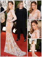 Wholesale Custome made New Style Summer Tulle Jennifer Lopez at the Golden Globe Celebrity Dress b