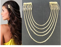 Wholesale Tail Hair Jewelry Punk Hair Rope Hair combs Metal Tassel Chain Jewelry China Jewelry metal claw hair clips