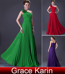 Wholesale Grace Karin New A line Bridesmaid Gown Sexy Party Gown One Shoulder Evening Dresses CL3467