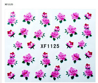 Plastic nail tattoo sticker - 300 x Nail Art Sticker Water Temporary Tattoos Watermark Stickers Styles Available Free Shipp