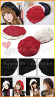 Wholesale Women Lady Winter Warm Knitted Crochet Slouch Baggy Beret Beanie Hat Cap
