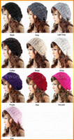 Wholesale 10 New Arrivals Lady Winter Warm Knitted Crochet Slouch Baggy Beret Beanie Hat Cap ax47