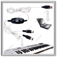 Wholesale USB Midi Cable to Keyboard Module Controller Interface Adapter For PC Laptop AAFC
