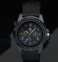 Wholesale DHL Shipping Unisxe Fashion Gemius Army Racing Force Military Sport Men Officer Fabric Band Watch