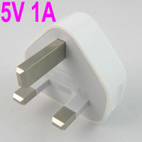 Wholesale Full V A UK Plug Adapter MA USB Wall Home AC Travel Charger for Iphone ipad