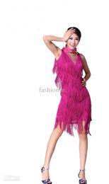 Wholesale Hottest Tassels Latin Dance Performance Stage Wear Fashion FMWD