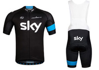 Wholesale 2013 SKY TEAM PINARELLO BLACK Short Sleeve Cycling Jersey Bike Bicycle Wear BIB Short Size XS XL