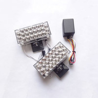 Wholesale Red Blue Yellow White car x led strobe light volts Car Truck x22 LED flashing lamp emergency