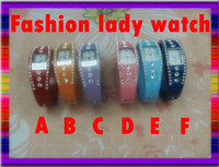 Wholesale Stainless Steel Wristwatches Shining diamond colorful Luxury Fashion Lady watch