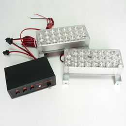 Wholesale car x led strobe light Red Blue Yellow White volts Car Truck x22 LED flashing lamp emergency