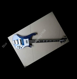 Electric bass in blue 4 strings New Chinese Guitars
