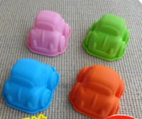 ECO Friendly baby shower car - small car shape silicone cake mold mould muffin cases for baby shower