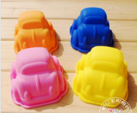 Wholesale 9 cm child favor small car shape silicone cake mold mould muffin cases for baby shower
