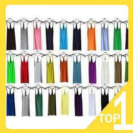 Wholesale slim sleeveless T shirt sex lady women s vest modal cross wishbone braces Vest