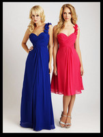 Wholesale New Arrival In Stock One Shoulder Chiffon Bridesmaids Dresses Party Gowns Custom made b31