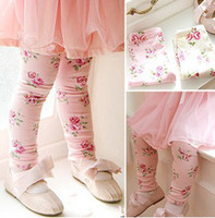Wholesale B3W3 Girls Leggings amp Tights baby leggings cotton fashion Floral leggings baby flower tights