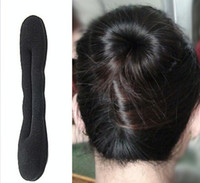 Wholesale Magic cm cm Black Sponge Hair Styling Tools Device Disk Headwear DIY Hair Styling For Adults