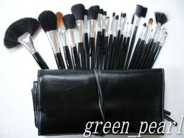 Wholesale Free gift New Makeup Brush LEATHER Pouch Makeup