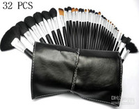Wholesale Free gift New Makeup Brush LEATHER Pouch Makeup pc