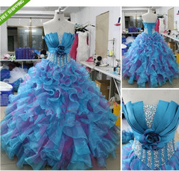 Wholesale Sexy Prom Ball Gown Quinceanera Dresses Bridal Wedding Dresses Custom Size