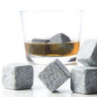 Wholesale 144pc bag Black whisky Stone with a velvet bag whiskey rock ice stone ice cube stone