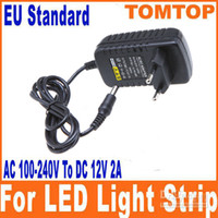 Wholesale AC V To DC V A Power Supply Converter Adapter for Led Lights Strip string EU plug H8258EU