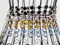 Wholesale Women Ladies leather Waistband Crystal Rhinestone Chain Waist Thin Narrow belt