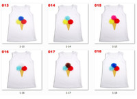 Wholesale kids ice cream tank tops tshirts sweaters girls cotton jersey blouses singlets gilet match tutu P296